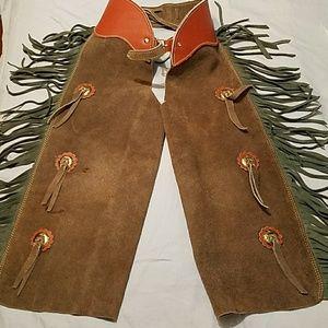 none Costumes - Like New Kids Genuine Leather Chaps sz 26w
